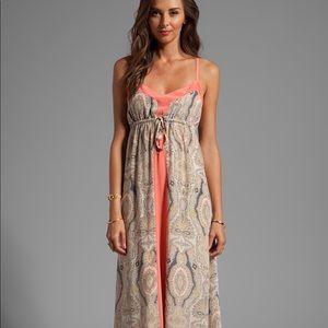 Gypsy 05 Nusa Dua Silk Paisley Maxi dress in Guava
